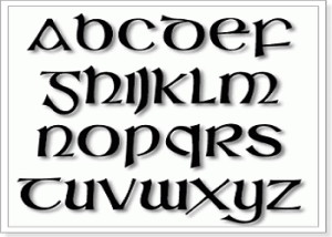 Кельтский алфавит