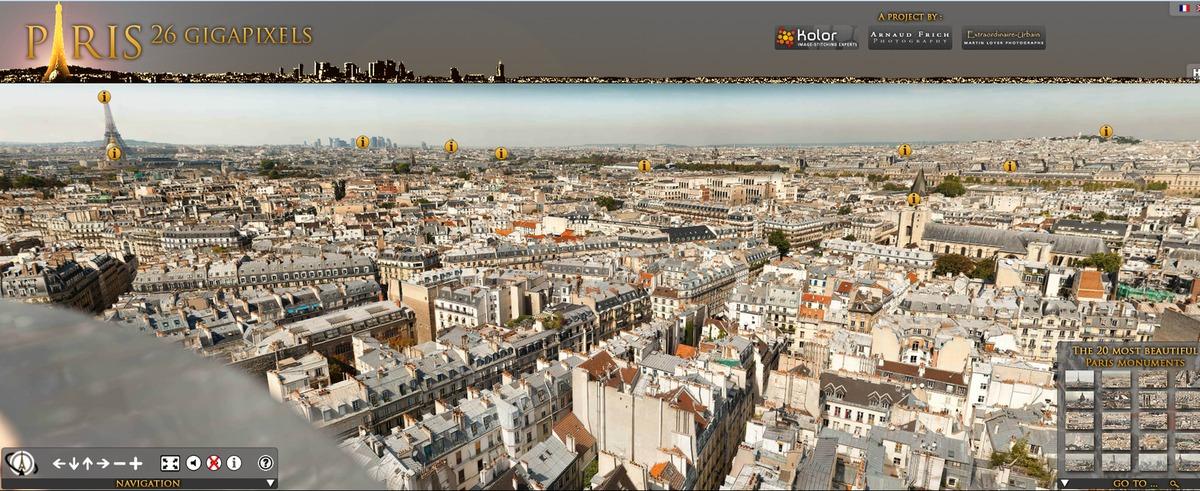 Париж в 26 гигапикселях