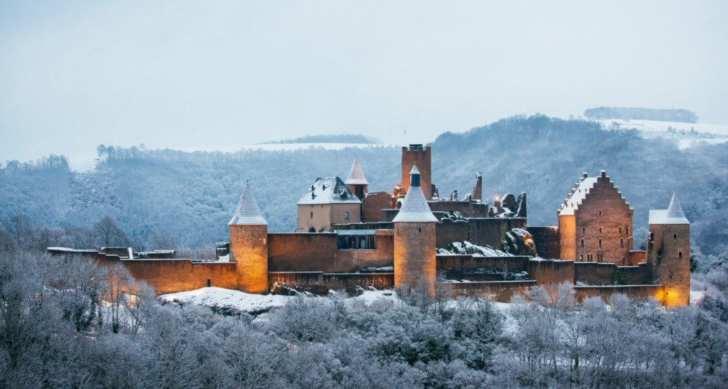 зима в Люксембурге
