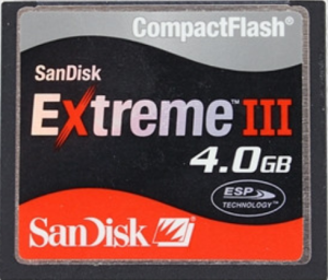 SANDISK 4GB EXTREME III COMPACT FLASH