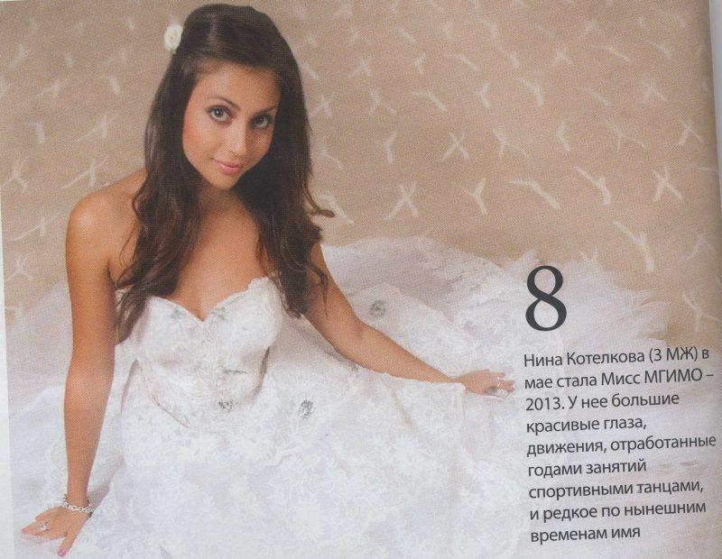 Нина Котелкова- мисс МГИМО 2013