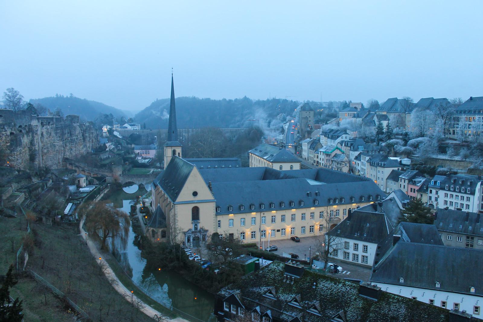 Люксембург зимой
