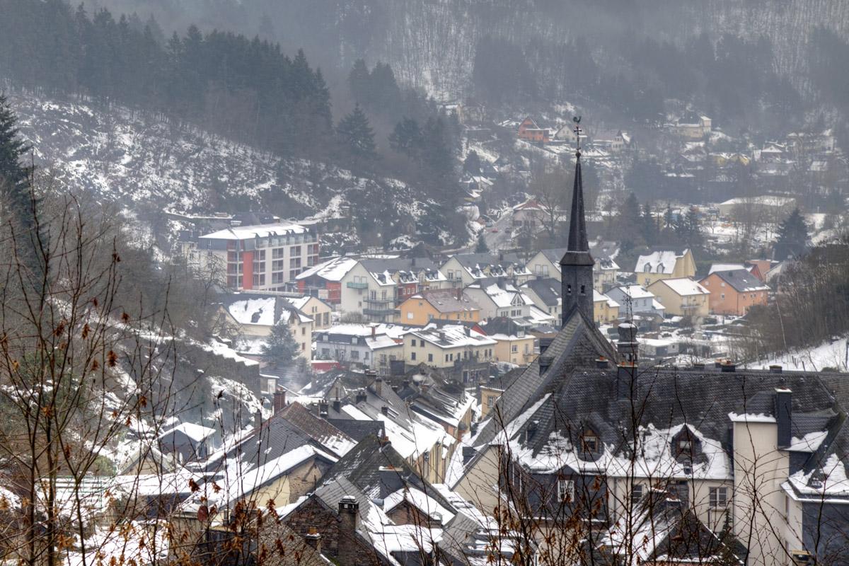 В Люксембурге выпал первый снег…