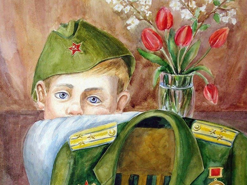 Выставка детского рисунка о войне