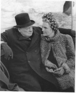 Уинстон Черчилль и его жена