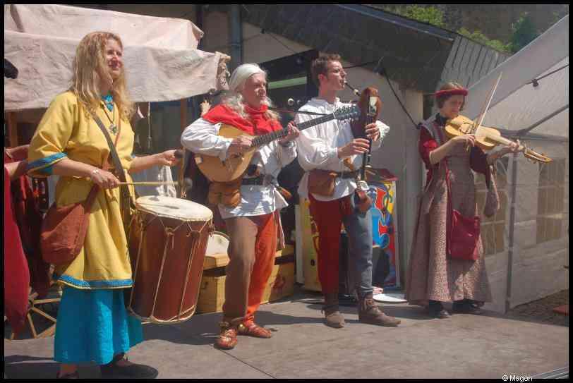 Medeival festival at Useldange, Luxembourg