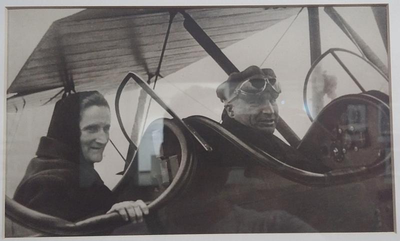 Чкалов с мамой в самолете. Выставка «Авангард и авиация» by Magon
