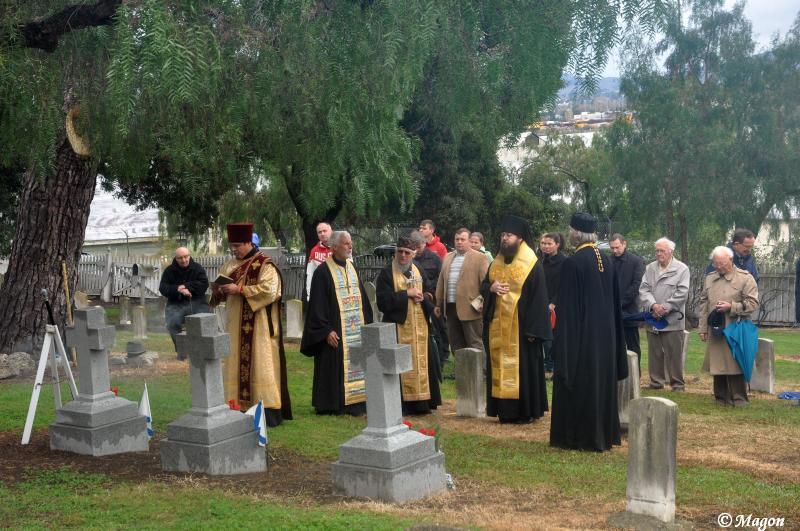 Поминовение русских моряков, похороненных на кладбище г.Валехо, шт.Калифорния (США), 19.11.2016 г.