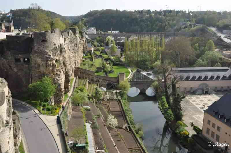 Luxembourg, View of Grund (Ville Bas)