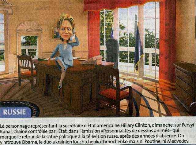 Clinton at Russian TV